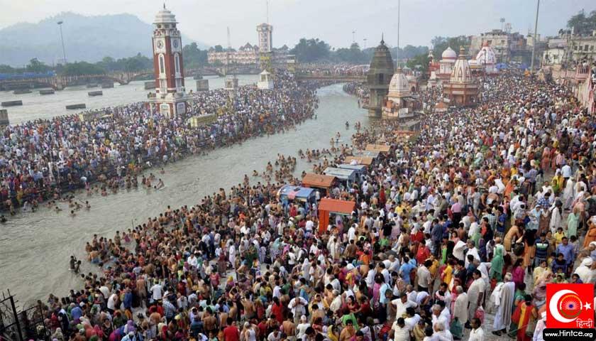 Ganj nehri kalabalığı