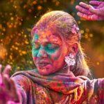 Hindistan, Holi, Boyalı kız